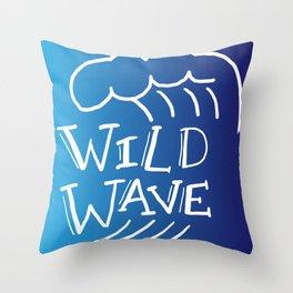 Wild Wave Throw Pillow