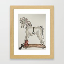 Low Brow Art Horse Race Framed Art Print