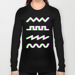 Glitch Synthesizer Audio Waveforms Long Sleeve T-shirt