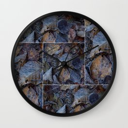 Frost & Leaves2 Wall Clock
