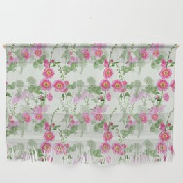 Hollyhock Pattern Wall Hanging