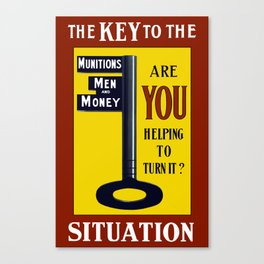 The Key To The Situation -- WWI Canvas Print