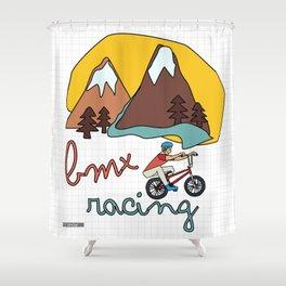 BMX Racing Shower Curtain