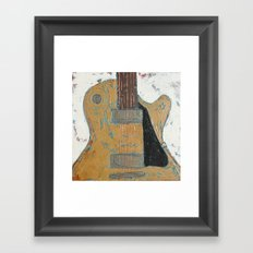 Les Paul Guitar Framed Art Print