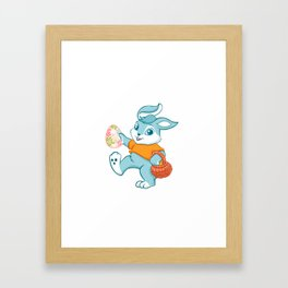 Easter bunny rabbit Framed Art Print