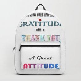 Gratitude ~ Xmas Spirit Quote Backpack