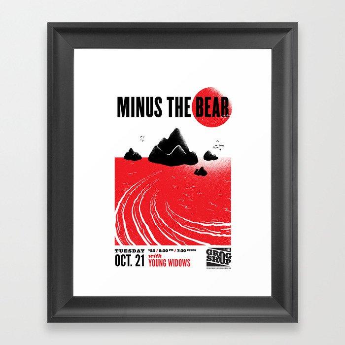 Minus The Bear - Concert Poster Framed Art Print by itcsullivan ...