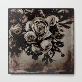 Dark Floral Metal Print