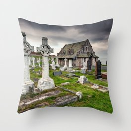 Saint Tudno Llandudno Throw Pillow