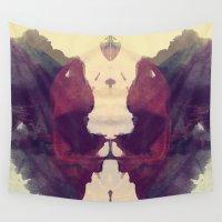 rorschach Wall Tapestries featuring Test de Rorschach IX by acefecoo
