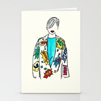 comic Stationery Cards featuring Comic by Fatima khayyat