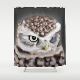 Burrowing Owl Portrait II Shower Curtain