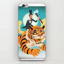 Abe Lincoln Flies a Tiger iPhone Skin