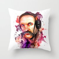 paramore Throw Pillows featuring Cossack Ivan Sirko listen music by Sitchko Igor