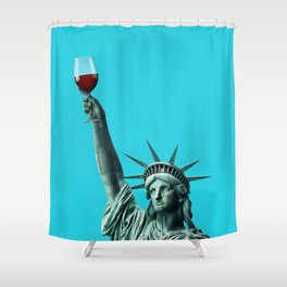 Liberty of drinking Shower Curtain