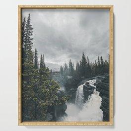 Athabasca Falls Alberta Serving Tray