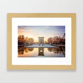 Temple of Debod, Madrid Framed Art Print