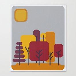 Sun over Autumn Forest Canvas Print