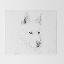 Saber :: A Siberian Husky Throw Blanket