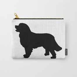 Bernese Mountain Dog silhouette black and white minimal dog gifts Carry-All Pouch