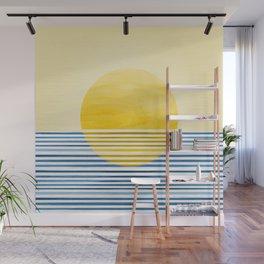 Minimal Summer Sunset Wall Mural