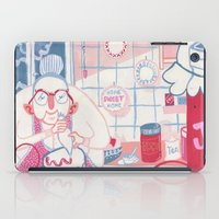 baking iPad Cases featuring Baking Nan by StinkyInky_Jess