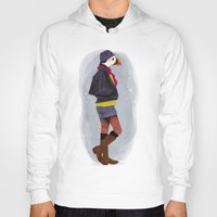 puffin Hoodies featuring Puffin by Dyna Moe