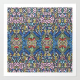 Crane Repeat Art Print