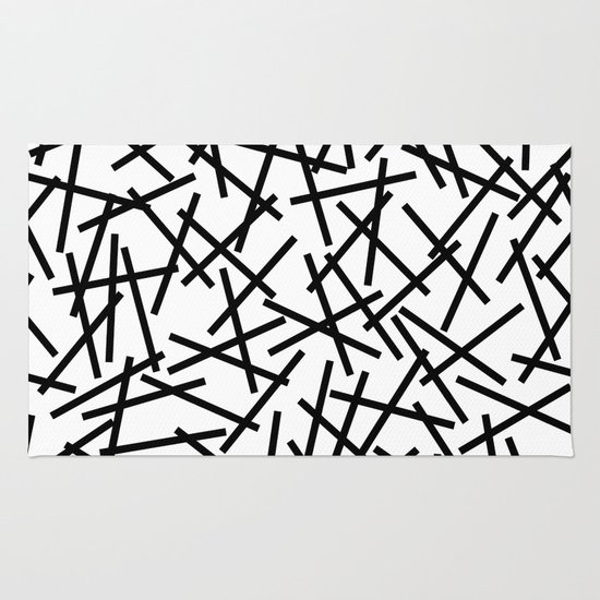 Kerpluk Black on White Rug