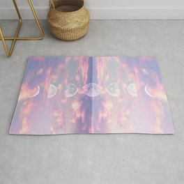 Moon Reflection Sunset Rug