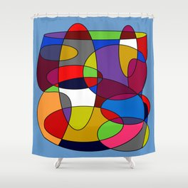 Abstract #28 Shower Curtain