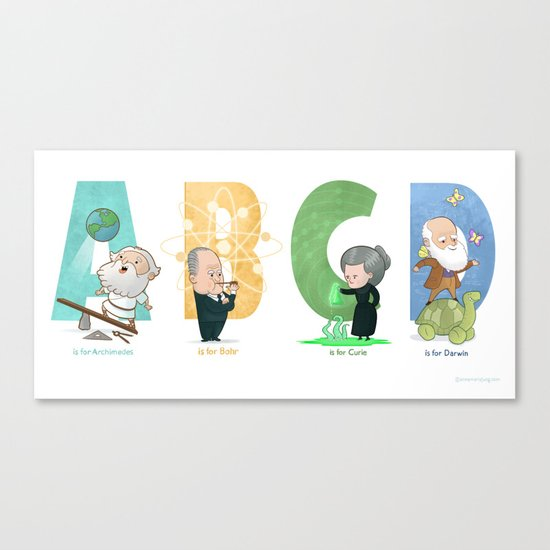 Science ABC Canvas Print