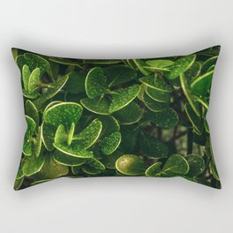 Greens Pattern Rectangular Pillow