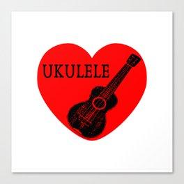 Ukulele Love Canvas Print
