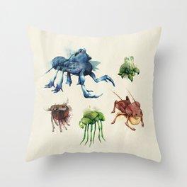 Iridescent Bugs - Set B Throw Pillow