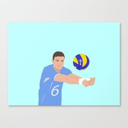Volleyball cartoon Canvas Print