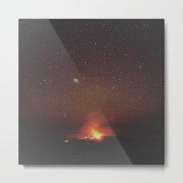 Beach Fire by Seasons Kaz Sparks Metal Print