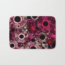 Vibrant Abstract Pink Bubbles design Bath Mat