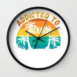 Jackals Gift, Addicted to Jackals Wall Clock