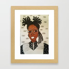 Miss Know it All Framed Art Print