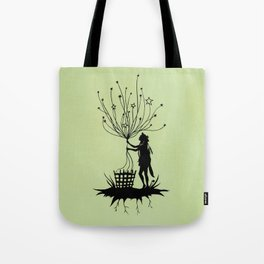 She Spins The Stars Tote Bag