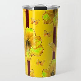 """FOR THE LOVE OF BUTTERFLIES"" RED-YELLOW ART Travel Mug"