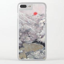 Alpine Moon Clear iPhone Case