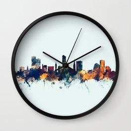Leicester England Skyline Wall Clock