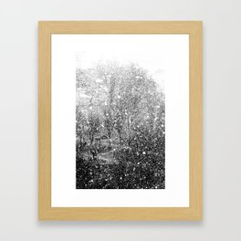 Snow in early fall(3) Framed Art Print