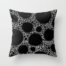 Black Pebbles Throw Pillow