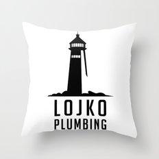 Lojko Plumbing Throw Pillow