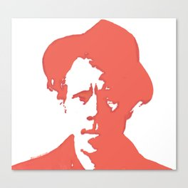 Tom Waits in Red Canvas Print