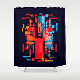 Abstract Composition #1 Shower Curtain