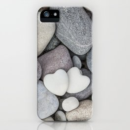 Heart Pebble Stone Mineral Love Symbol iPhone Case